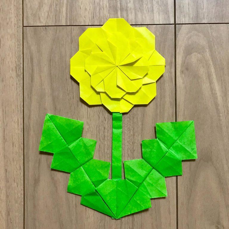 折り紙でたんぽぽ